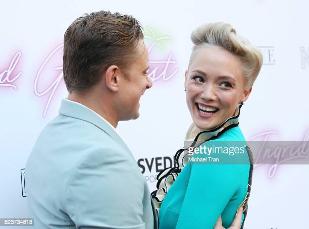 Billy Magnussen and Pom Klementieff arrive at the Los Angeles premiere of Neon's Ingrid Goes West held at ArcLight Hollywood on July 27 2017 in...