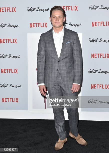 Billy Magnussen arrives at the Los Angeles premiere screening of 'Velvet Buzzsaw' at American Cinematheque's Egyptian Theatre on January 28 2019 in...