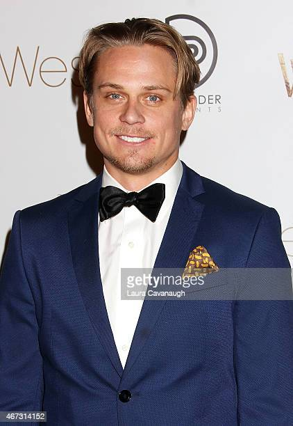 Billy Magnussen attends Into The Woods InHome Release Musical Tribute to Stephen Sondheim at 42West on March 22 2015 in New York City