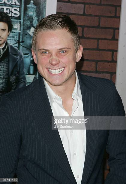 Billy Magnussen attends the New York premiere of Sherlock Holmes at the Alice Tully Hall Lincoln Center on December 17 2009 in New York City
