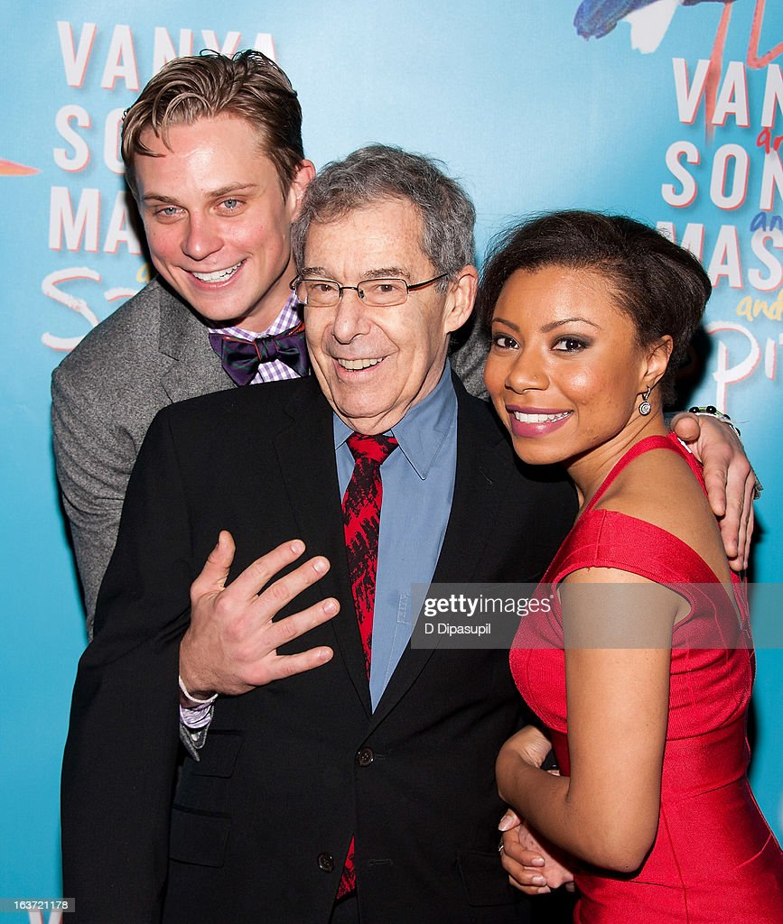 Billy Magnussen, director Nicholas Martin, and Shalita Grant attend the 'Vanya And Sonia And Masha And Spike' Broadway Opening Night After Party at Gotham Hall on March 14, 2013 in New York City.