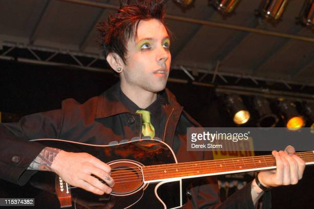 Billy Martin of Good Charlotte during Good Charlotte Performs at Tower Records October 5 2004 at Tower Records Greenwich Village in New York City New...