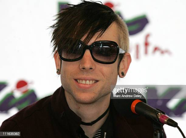 Billy Martin of Good Charlotte during KISS 108 FM KISS Concert 2005 Interview Room at Tweeter Center in Mansfield Massachusetts United States