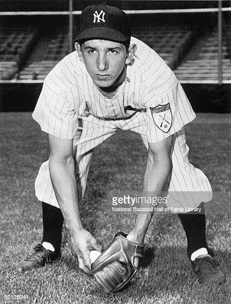 Billy Martin of the New York Yankees poses for an action portrait circa 1950's Alfred Manuel Martin played as an infielder for Yankees from 195057