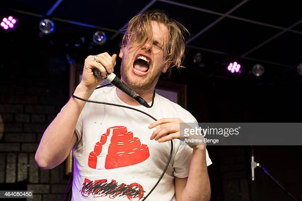 Billy Mason-Wood of Blacklisters performs on stage at Brudenell Social Club on February 21, 2015 in Leeds, England.