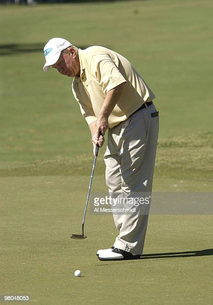Billy Mayfair putts on the fifth green during the first round of the Chrysler Championship Thursday October 30 at Palm Harbor Florida