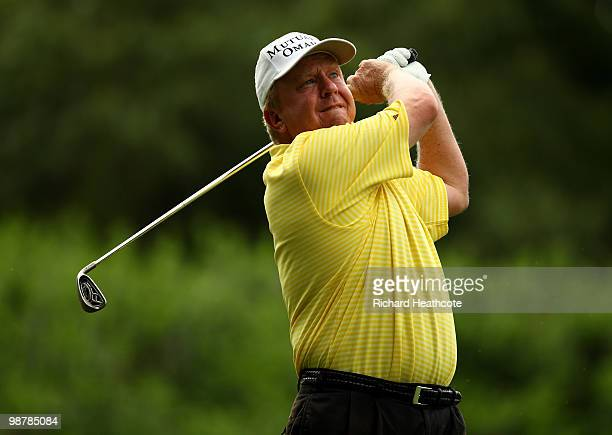 Billy Mayfair tee's off at the 13th during the third round of the Quail Hollow Championship at Quail Hollow Country Club on May 1 2010 in Charlotte...