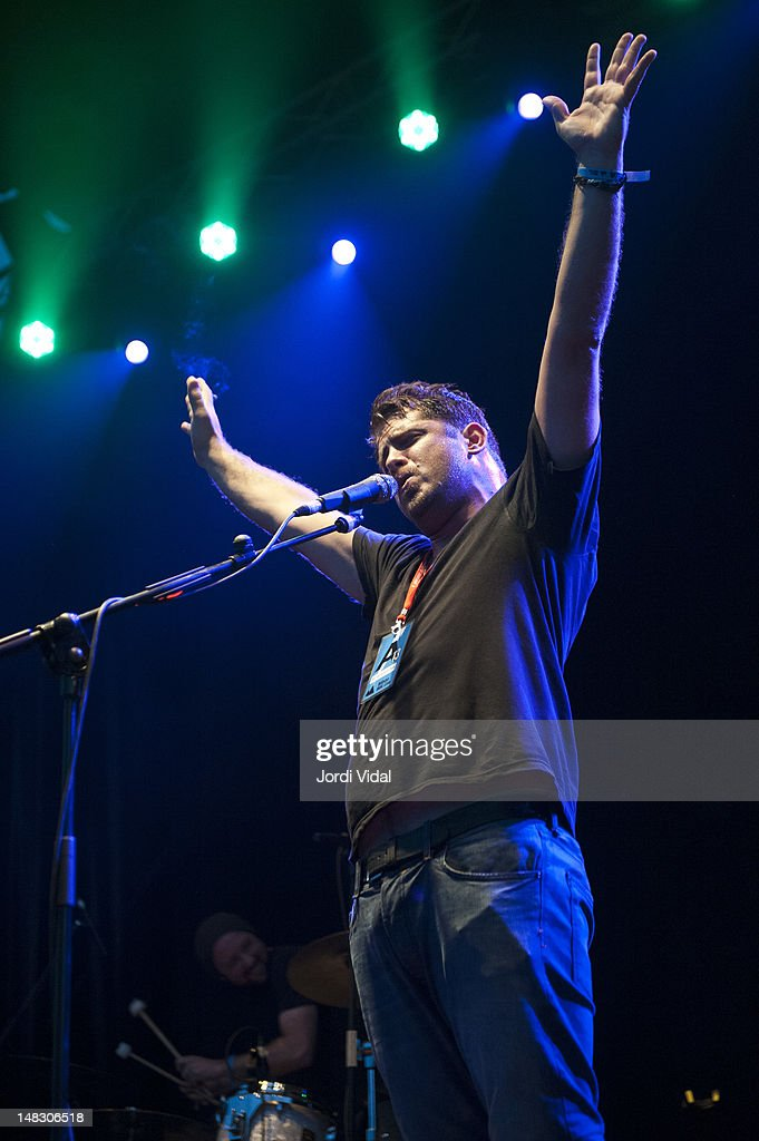 Billy McCarthy of We Are Augustines performs on stage during BBK Live at Kobetamendi on July 13, 2012 in Bilbao, Spain.