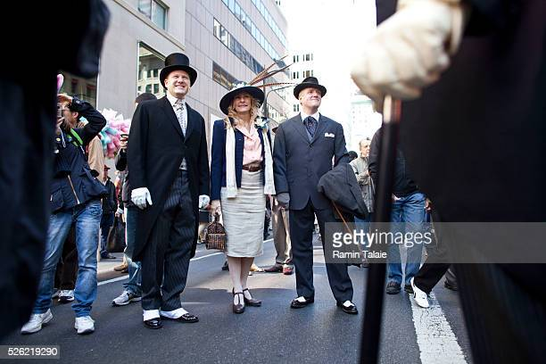 Billy McGoldrick, Chris Weller, and Jessie Bunting as they participate for the 2012 Easter Parade during the annual New York City Easter parade on...
