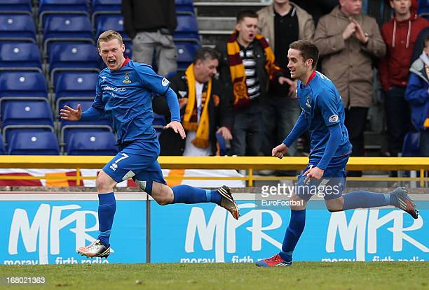 Billy McKay of Inverness CT celebrates after scoring the winning goal during the Clydesdale Bank Scottish Premier League match between Inverness...