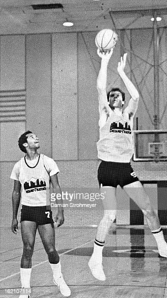 OCT 4 1982 Billy McKinney and Kiki Vandeweghe Nuggets preseason is under way