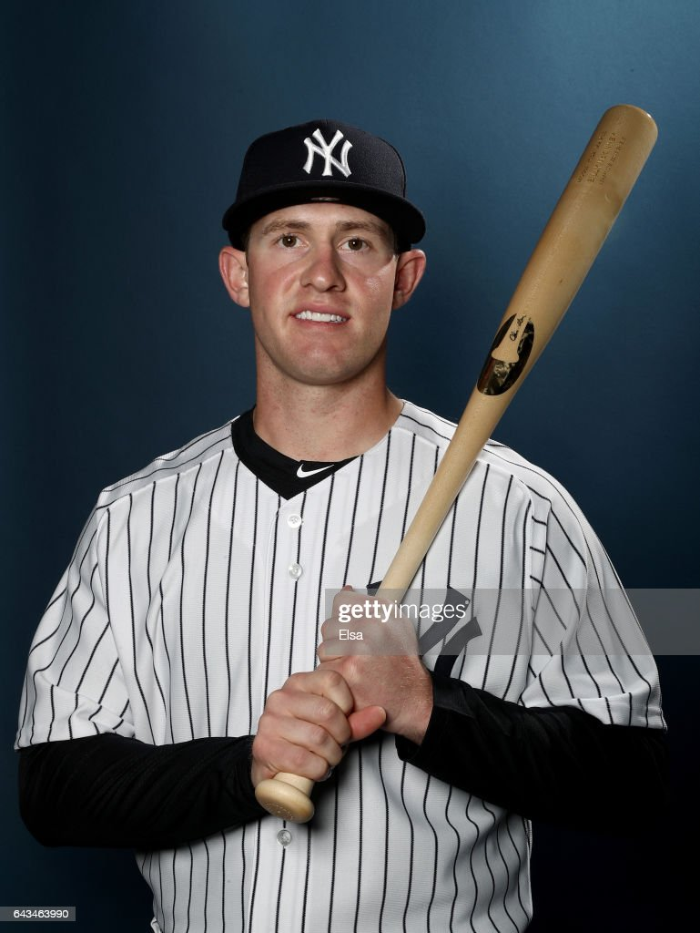 Billy McKinney #71 of the New York Yankees poses for a portrait during the New York Yankees photo day on February 21, 2017 at George M. Steinbrenner Field in Tampa, Florida.