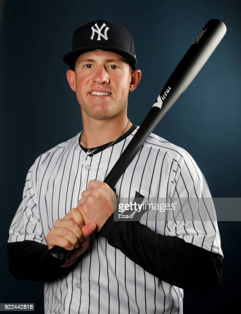 Billy McKinney of the New York Yankees poses for a portrait during the New York Yankees photo day on February 21 2018 at George M Steinbrenner Field...