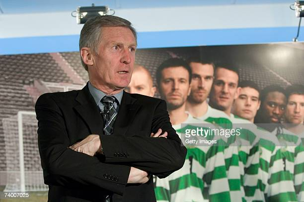 Billy McNeill Lisbon Lion and Celtic captain of the first British team to win the European Cup in 1967 poses at the new Celtic/Nike kit launch on...