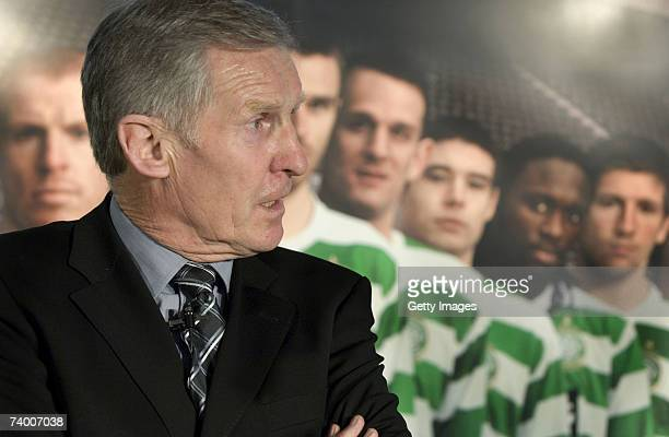 Billy McNeill Lisbon Lion and Celtic captain of the first British team to win the European Cup in 1967 looks on at the new Celtic/Nike kit launch on...