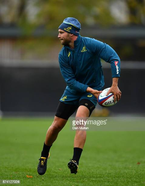 Billy Meakes of Australia looks for a pass during a training session at the Lensbury Hotel on November 14 2017 in London England
