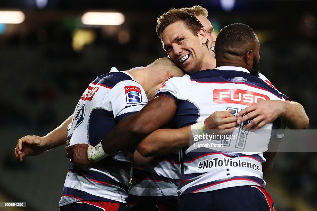 Super Rugby Rd 16 - Blues v Rebels : News Photo