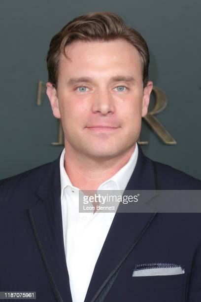 """Billy Miller attends Premiere Of Apple TV+'s """"Truth Be Told"""" at AMPAS Samuel Goldwyn Theater on November 11, 2019 in Beverly Hills, California."""