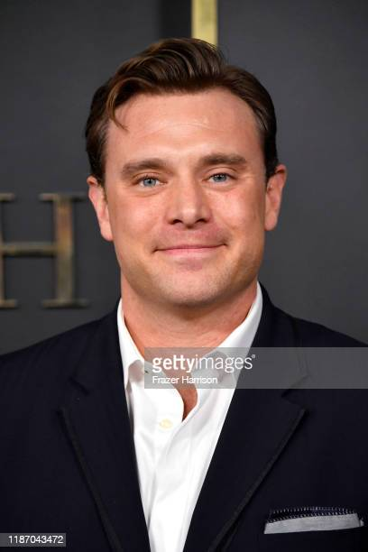 """Billy Miller attends the Premiere of Apple TV+'s """"Truth Be Told"""" at AMPAS Samuel Goldwyn Theater on November 11, 2019 in Beverly Hills, California."""