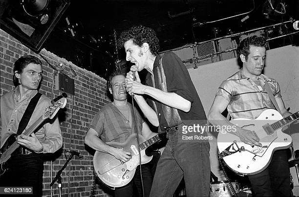 Billy Miller founder of Norton Records and Kicks Magazine performing with The Zantees at the Mudd Club in New York City on March 11, 1982.