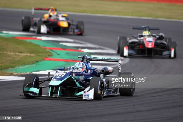 Billy Monger of Great Britain and Carlin Motorsport in action during race 2 of the Euroformula Open Series race at Silverstone Circuit on September...