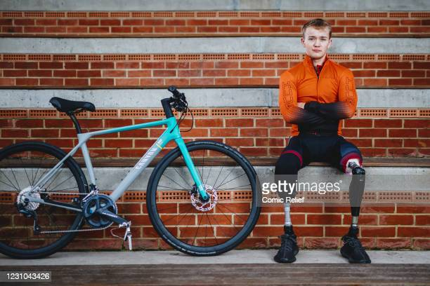 Billy Monger poses for a picture at Herne Hill Velodrome on the 19th January 2021 in London, England. Billy will be setting off at the end of...