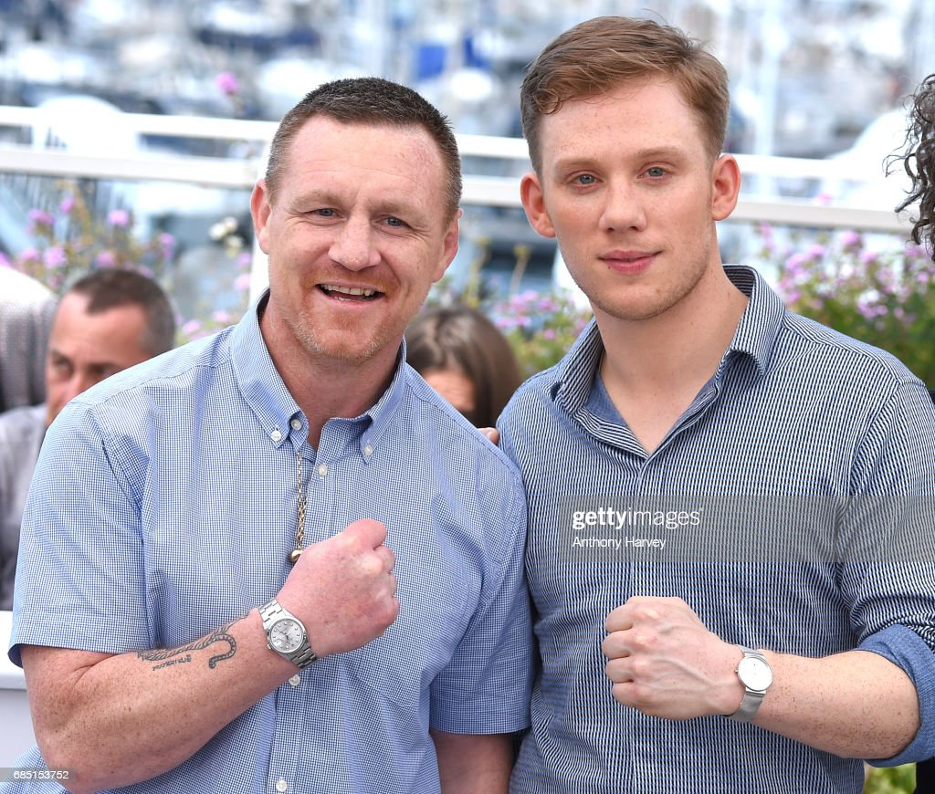Billy Moore and Joe Cole attend the 'A Prayer Before Dawn' Photocall during the 70th annual Cannes Film Festival at Palais des Festivals on May 19, 2017 in Cannes, France.