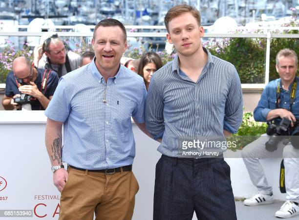 Billy Moore and Joe Cole attend the 'A Prayer Before Dawn' Photocall during the 70th annual Cannes Film Festival at Palais des Festivals on May 19...