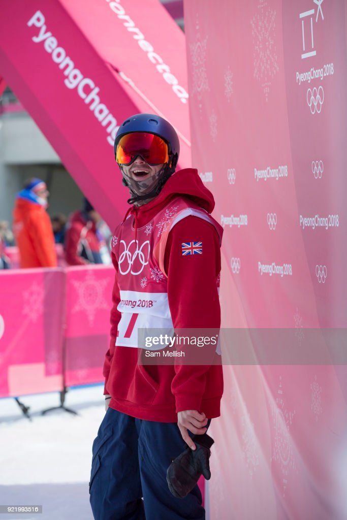 Billy Morgan, Great Britain, during the men's snowboard big air qualification at the Pyeongchang 2018 Winter Olympics on February 21st 2018, at the Alpensia Ski Jumping Centre in Pyeongchang-gun, South Korea
