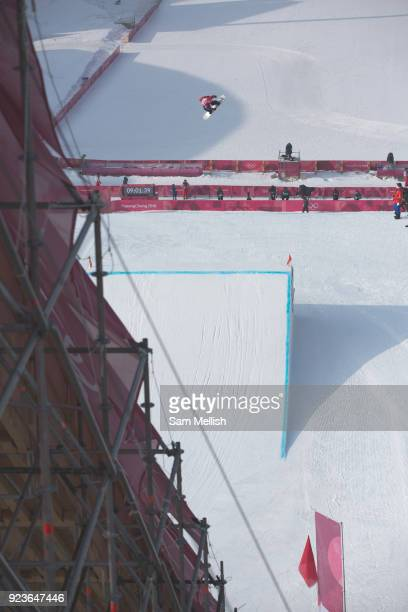 Billy Morgan Great Britain during the men's snowboard big air final practice at the Pyeongchang 2018 Winter Olympics on 24th February 2018 at the...