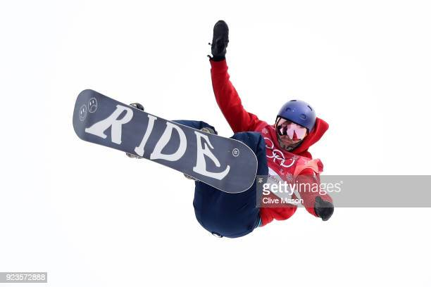 Billy Morgan of Great Britain competes during the Men's Big Air Final on day 15 of the PyeongChang 2018 Winter Olympic Games at Alpensia Ski Jumping...