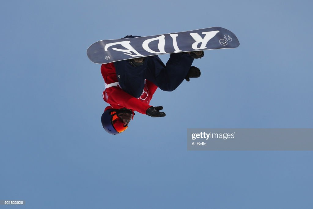 Billy Morgan of Great Britain competes during the Men's Big Air Qualification Heat 2 on day 12 of the PyeongChang 2018 Winter Olympic Games at Alpensia Ski Jumping Centre on February 21, 2018 in Pyeongchang-gun, South Korea.