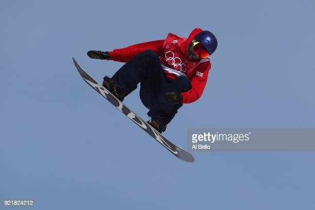 Billy Morgan of Great Britain competes during the Men's Big Air Qualification Heat 2 on day 12 of the PyeongChang 2018 Winter Olympic Games at...