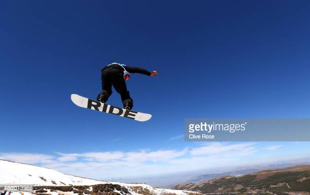 Billy Morgan of Great Britain competes during the Women's Slopestyle Final on day four of the FIS Freestyle Ski and Snowboard World Championships...