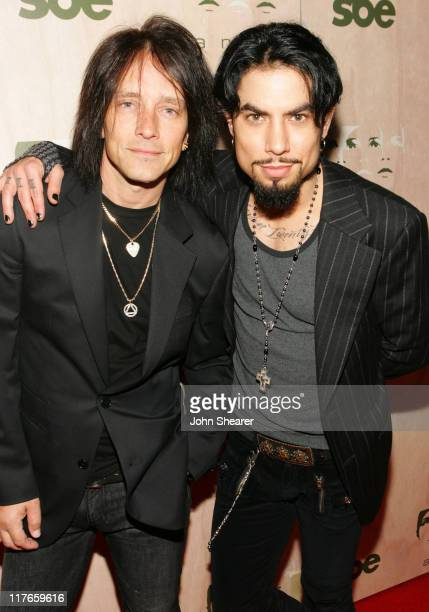 Billy Morrison and Dave Navarro during Grand Opening of SBE's AREA Nightclub - Red Carpet at Area in Hollywood, California, United States.