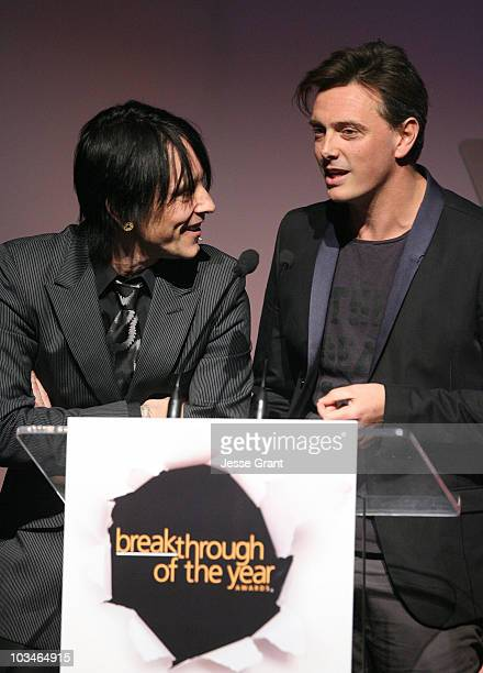 Billy Morrison and Donovan Leitch on stage at the 7th annual Hollywood Life Breakthrough of the Year Awards at the Music Box at the Fonda on December...