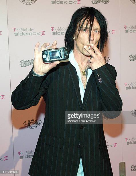 Billy Morrison during T-Mobile Limited Edition Sidekick II Launch - Arrivals at T-Mobile Sidekick II City in Los Angeles, California, United States.