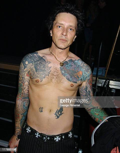 Billy Morrison in the Tanquerey Ten Lounge during Tanqueray NoTEN Backstage Lounge at GM TEN Event at Sunset and Vine in Hollywood California United...