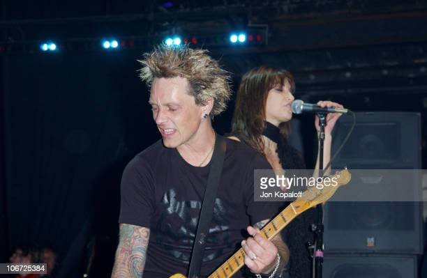 """Billy Morrison of Camp Freddy and Gina Gershon during DKNY Presents Vanity Fair """"In Concert"""" To Benefit Step Up Women's Network - Concert at Avalon..."""