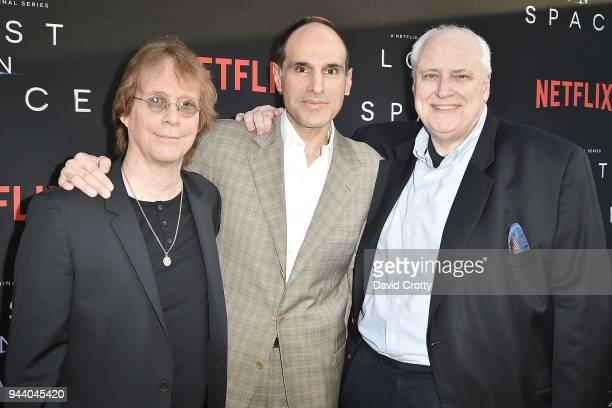 Billy Mumy Jon Jashni and Kevin Burns attend the 'Lost In Space' Season 1 Premiere at ArcLight Cinerama Dome on April 9 2018 in Hollywood California