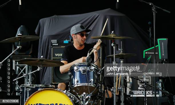 Billy Nally of The Wrecks performs in concert New York New York at Central Park SummerStage on July 31 2017 in New York City