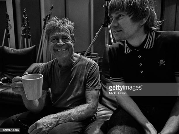 Billy Nicholls and Zak Starkey during rehearsals for The Who's 50th Anniversary Gig for The Teenage Cancer Trust at British Grove Studios on November...