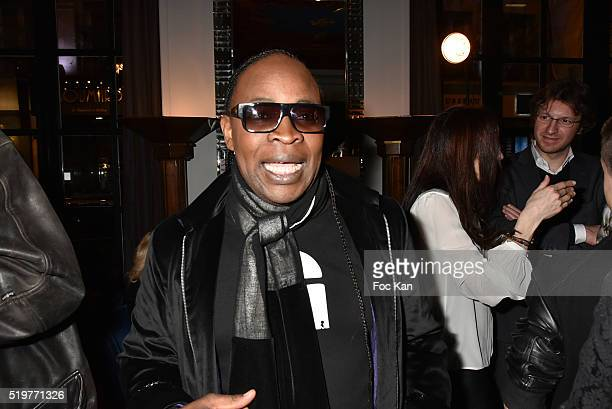 Billy Obam attends 'Guitar Tribute' by Golden disc awarded Jean Pierre Danel at Hotel Burgundy on April 7 2015 in Paris France