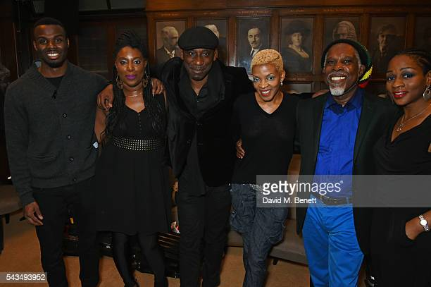 Billy Ocean poses backstage with Emmanuel Nwamadi, daughter Cherie Charles, Stanley Andrews, Donna Gardier and Joy Rise following his performance at...