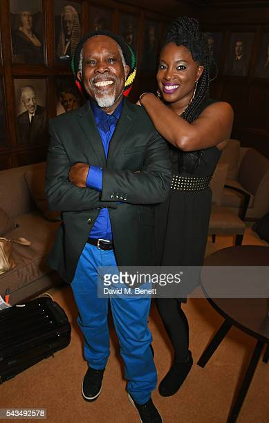 Billy Ocean poses backstage with his daughter Cherie Charles following his performance at the Regent Street Polytechnic 125th Anniversary gala at the...