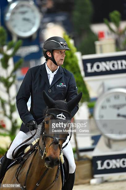 Billy of Ireland rides Diaghilev during the FEI Longines CSI5* World Cup Small Tour By BMW Jumping Verona 2016 on November 10 2016 in Verona Italy
