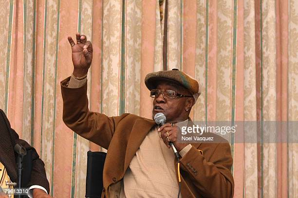 Billy Paul speaks at the PreGRAMMY Party at the Four Seasons Hotel on February 6 2008 in Beverly Hills California