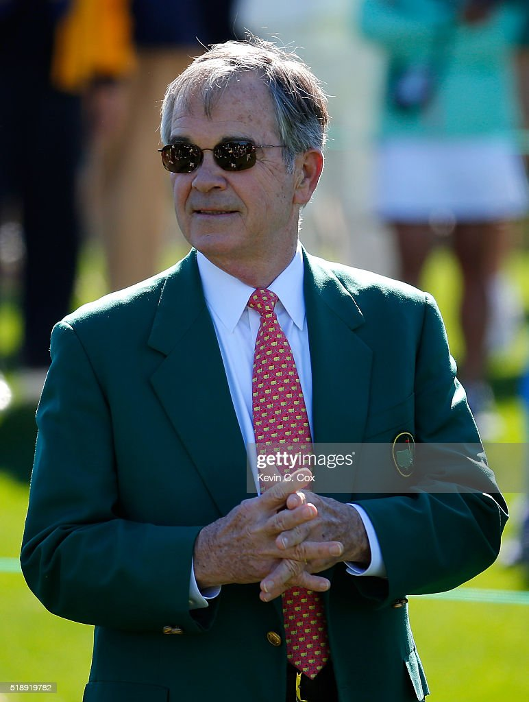 Billy Payne, Chairman of Augusta National Golf Club, looks on during the Drive, Chip and Putt Championship at Augusta National Golf Club on April 3, 2016 in Augusta, Georgia.