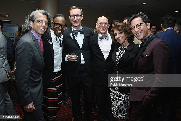 Billy Porter Adam Smith Andrea Martin and Dan Bucatinsky attend The Trevor Project's TrevorLIVE New York on June 13 2016 in New York City