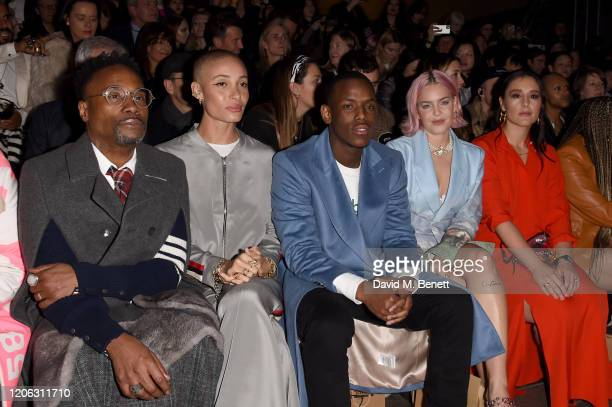 Billy Porter Adwoa Aboah Micheal Ward AnneMarie and Jessie Ware attend the Central Saint Martins MA Fashion Show during London Fashion Week February...